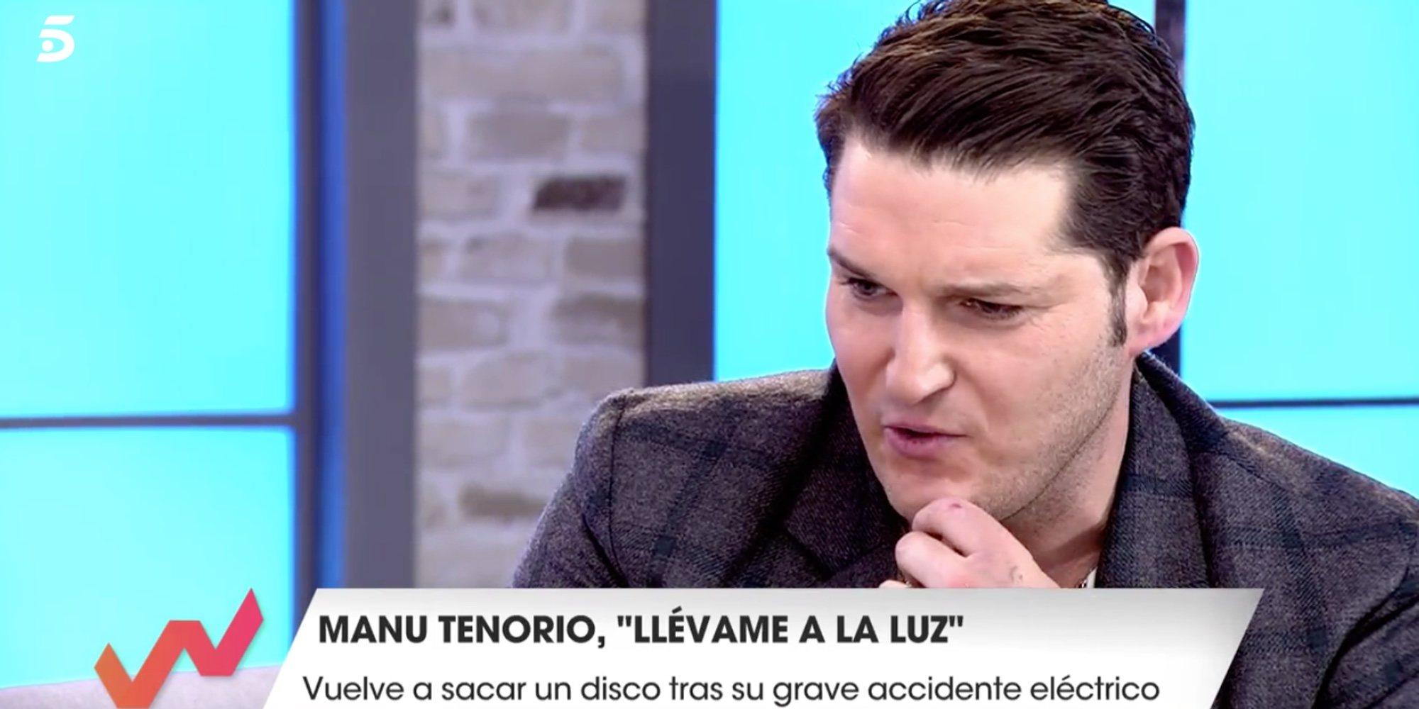 """Manu Tenorio cuenta las secuelas de su accidente doméstico: """"El brazo izquierdo  está tardando en cicatrizar"""""""