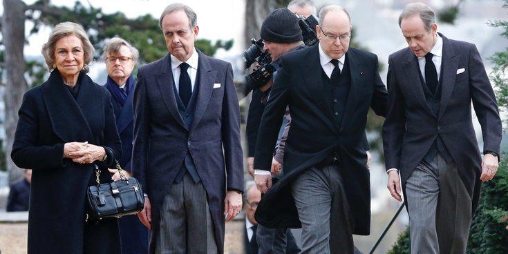 Cónclave de royals en el funeral del Conde de París: de la Reina Sofía a Alberto de Mónaco