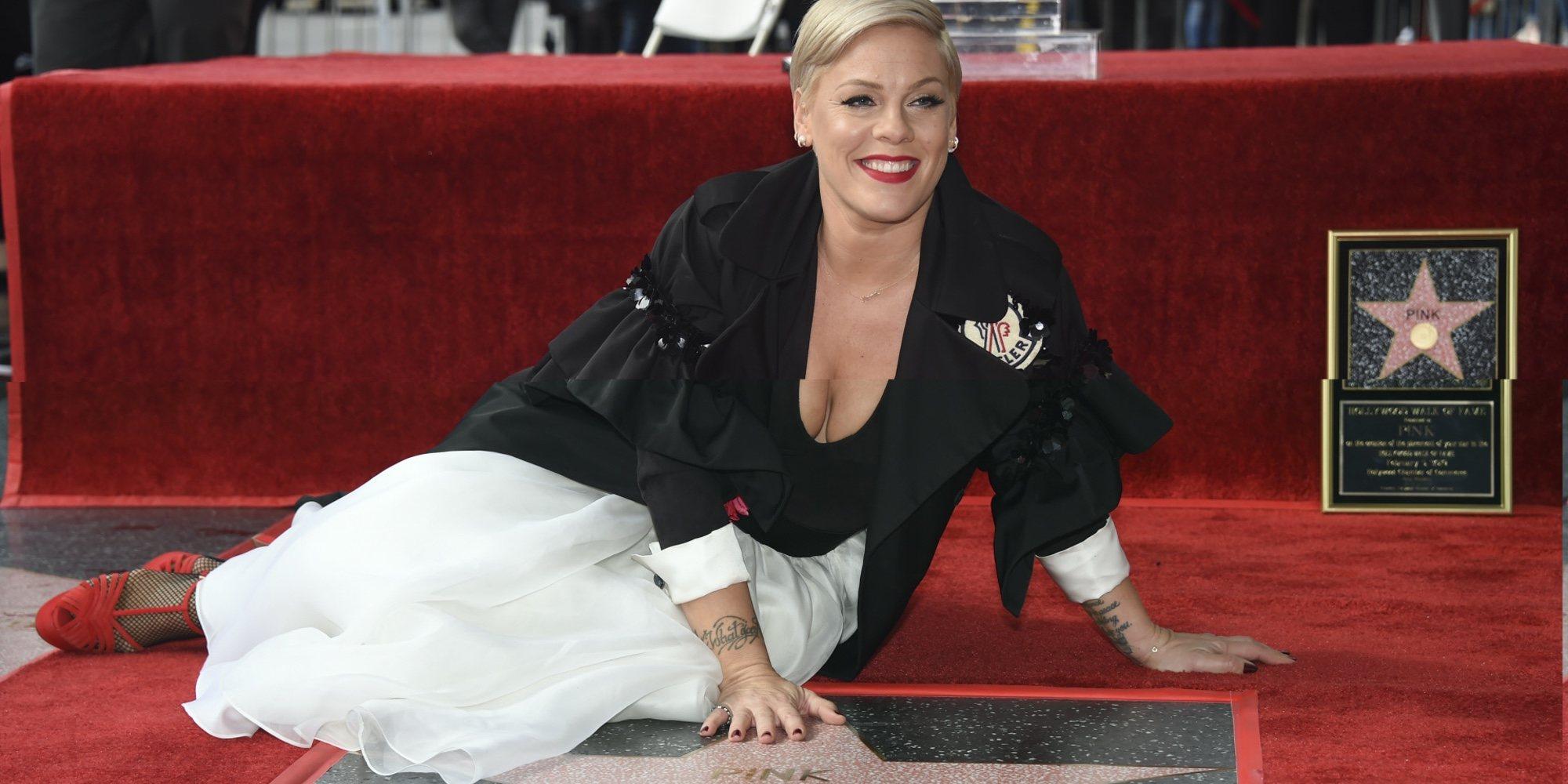 """La emoción de Pink al recibir su estrella en el Paseo de la Fama de Hollywood: """"Siento que estoy soñando"""""""