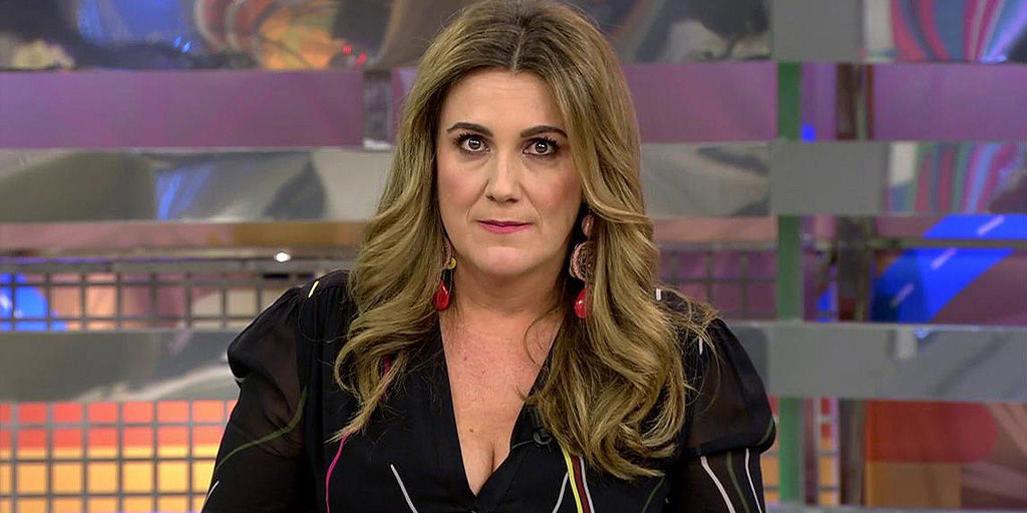 Carlota Corredera pide ayuda al equipo de 'Sálvame' para disimular que ha engordado