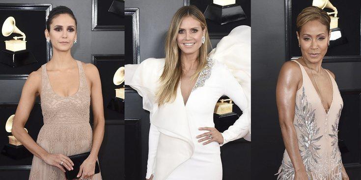 Nina Dobrev, Heidi Klum y Jada Pinkett Smith deslumbran en la alfombra roja de los Grammy 2019
