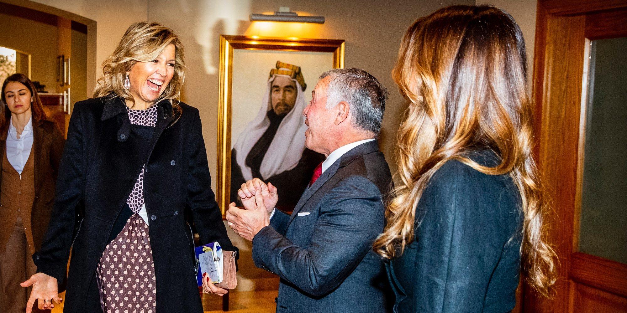 El buen rollo de Máxima de Holanda con Abdalá y Rania de Jordania en su encuentro más esperado