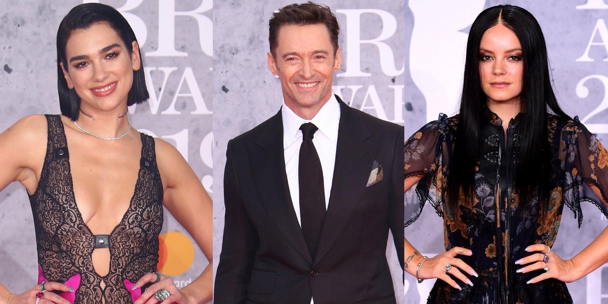 Dua Lipa, Hugh Jackman y Lily Allen brillan en la alfombra roja de los Brit Awards 2019
