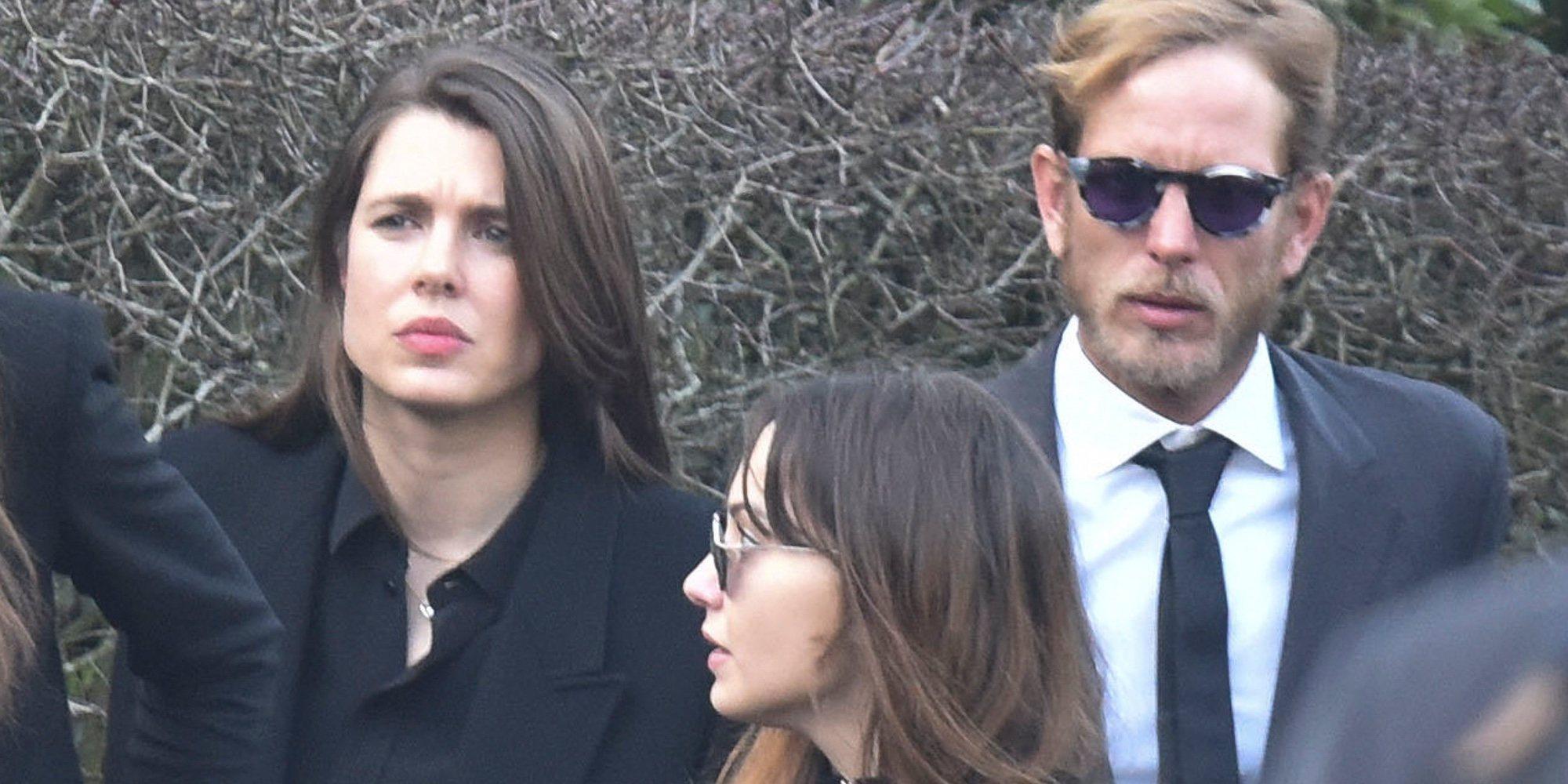 Carolina de Mónaco, Andrea y Carlota Casiraghi dan el último adiós a Karl Lagerfeld