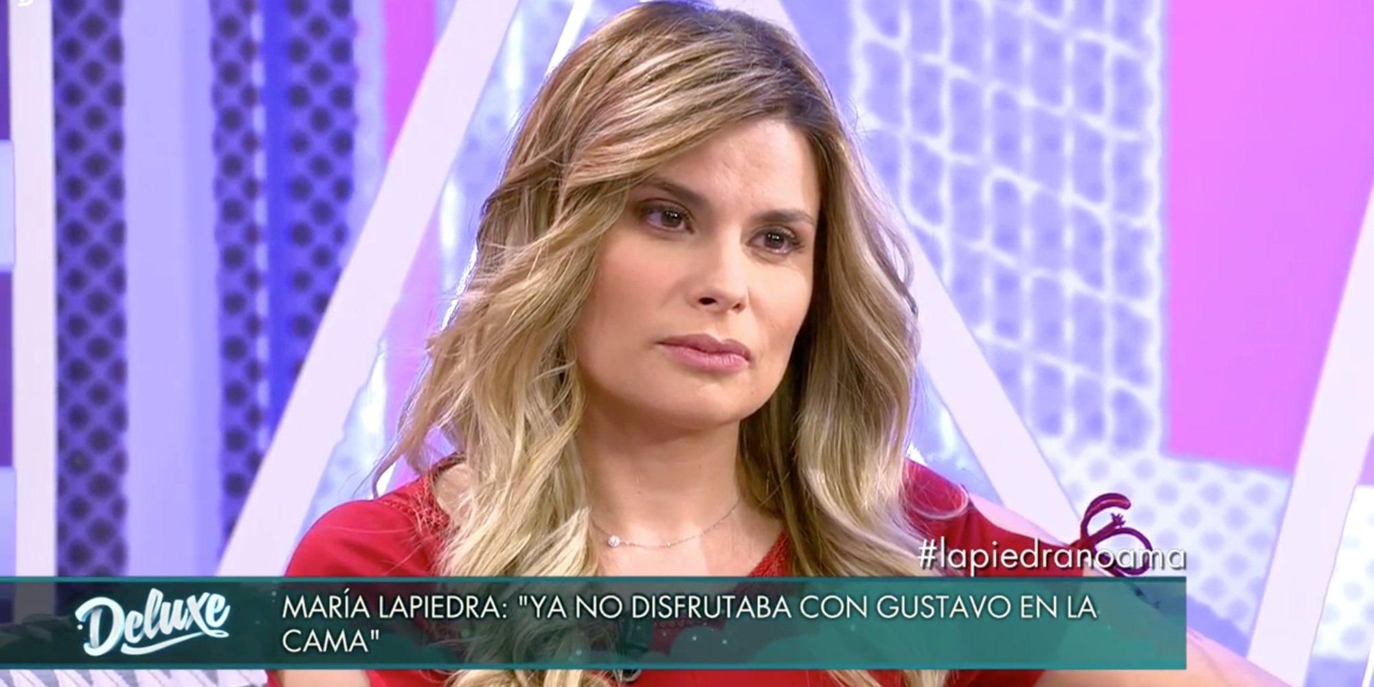"""María Lapiedra cuenta toda la verdad sobre su relación con Gustavo González: """"Nunca me defendió"""""""