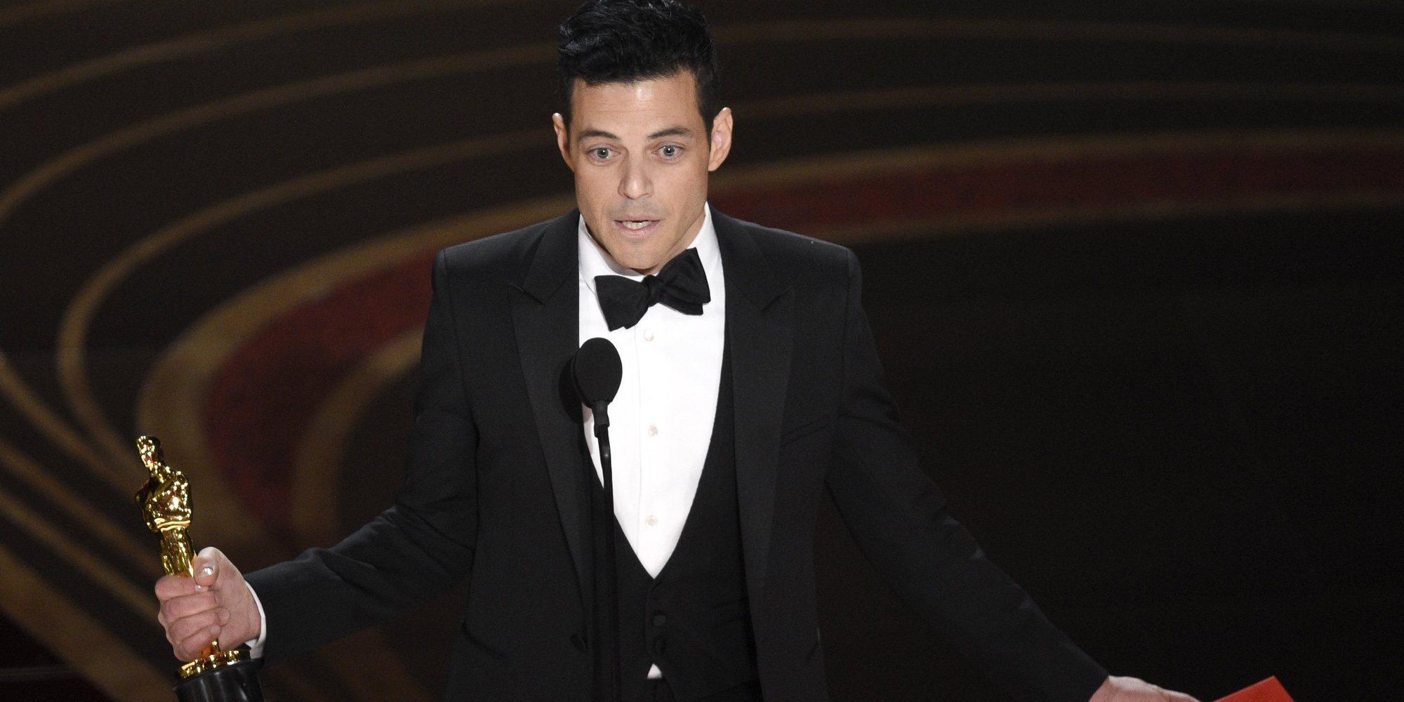 La aparatosa caída de Rami Malek tras recibir el Oscar 2019 al Mejor Actor por 'Bohemian Rhapsody'