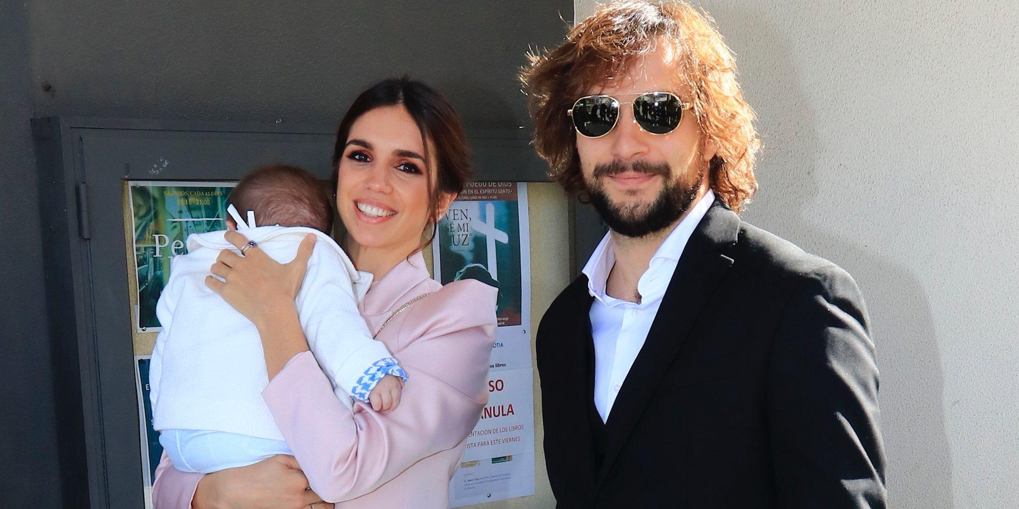 Elena Furiase y Gonzalo Sierra bautizan a su hijo Noah rodeados de familia y amigos