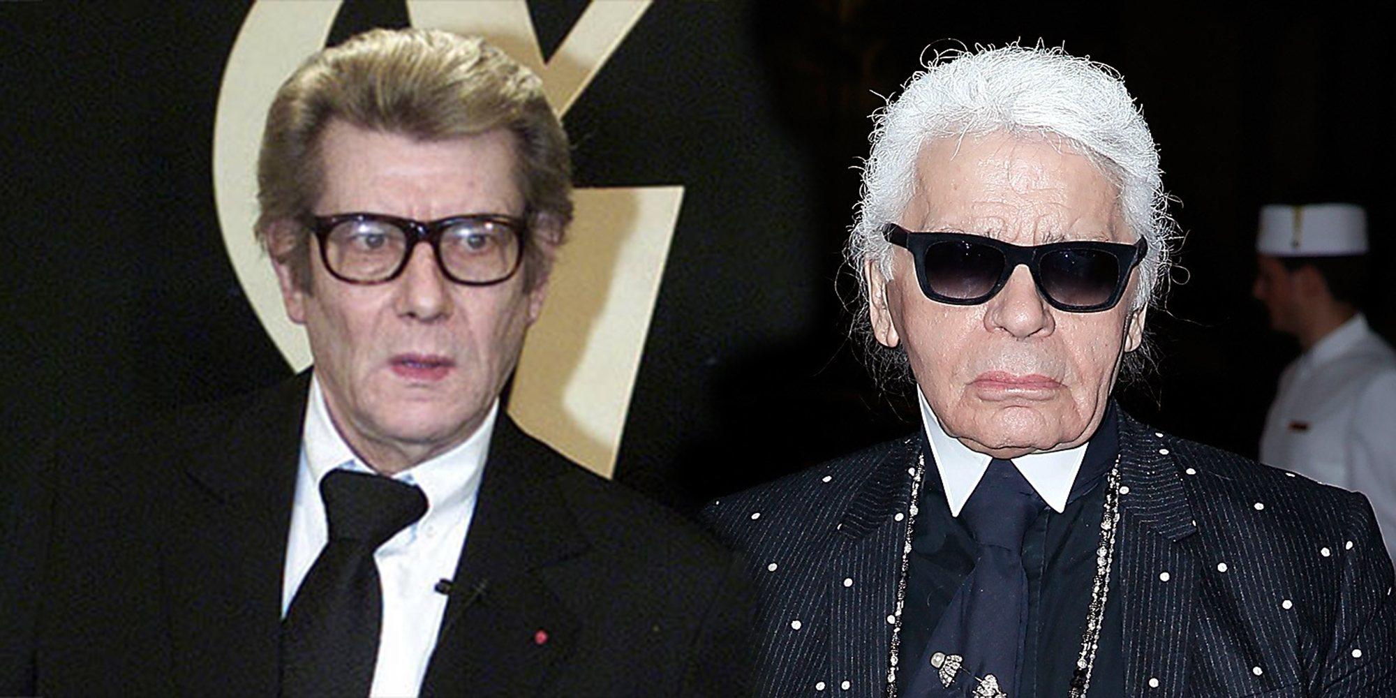 Enemigos Íntimos: Karl Lagerfeld e Yves Saint Laurent, dos genios de la moda enfrentados por 'el ángel negro'