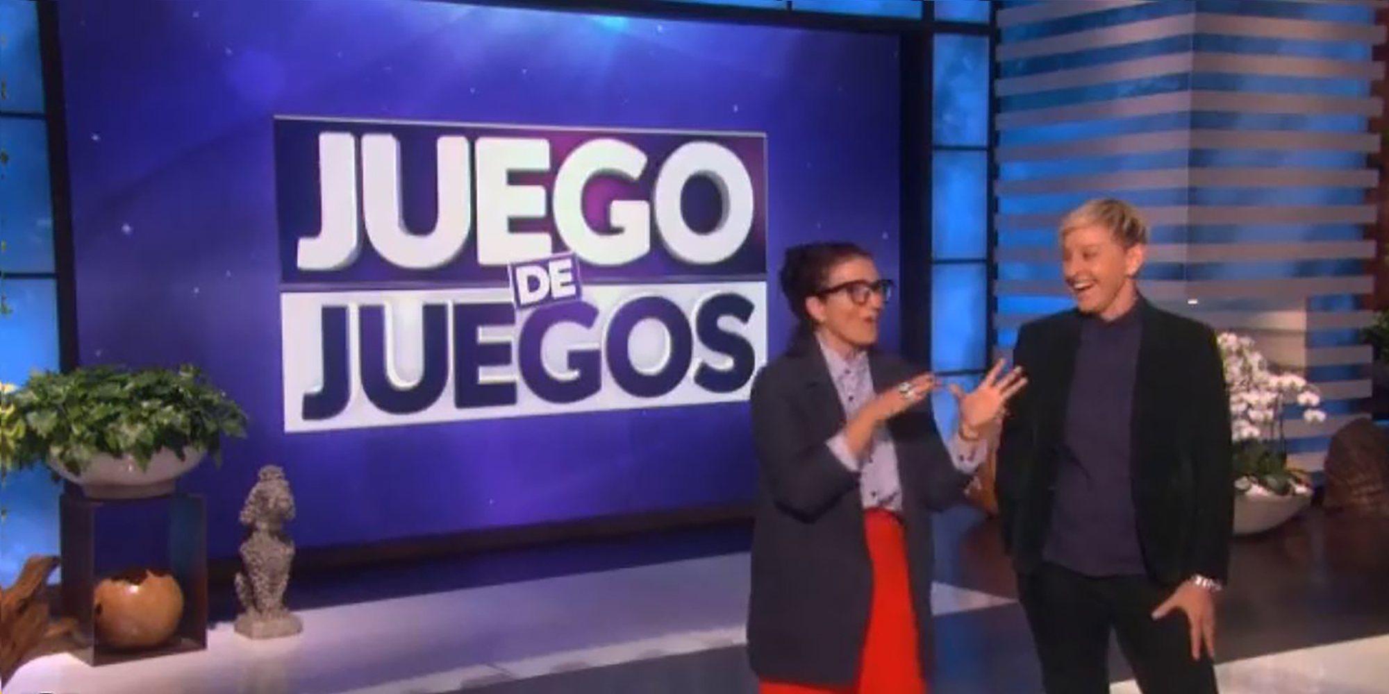 Así fue la visita de Silvia Abril a Ellen DeGeneres para promocionar 'Juego de Juegos'