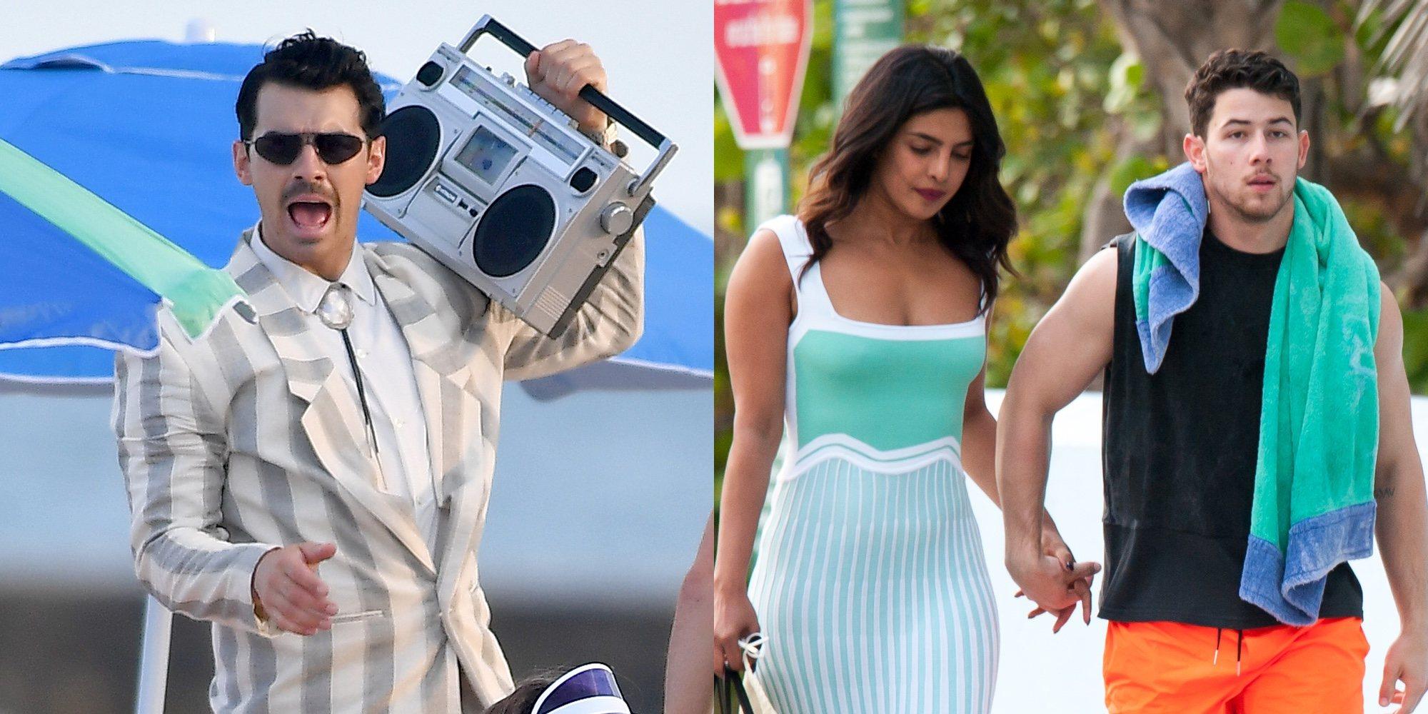 Los Jonas Brothers graban su próximo videoclip: Sophie Turner y Priyanka Chopra no se lo pierden