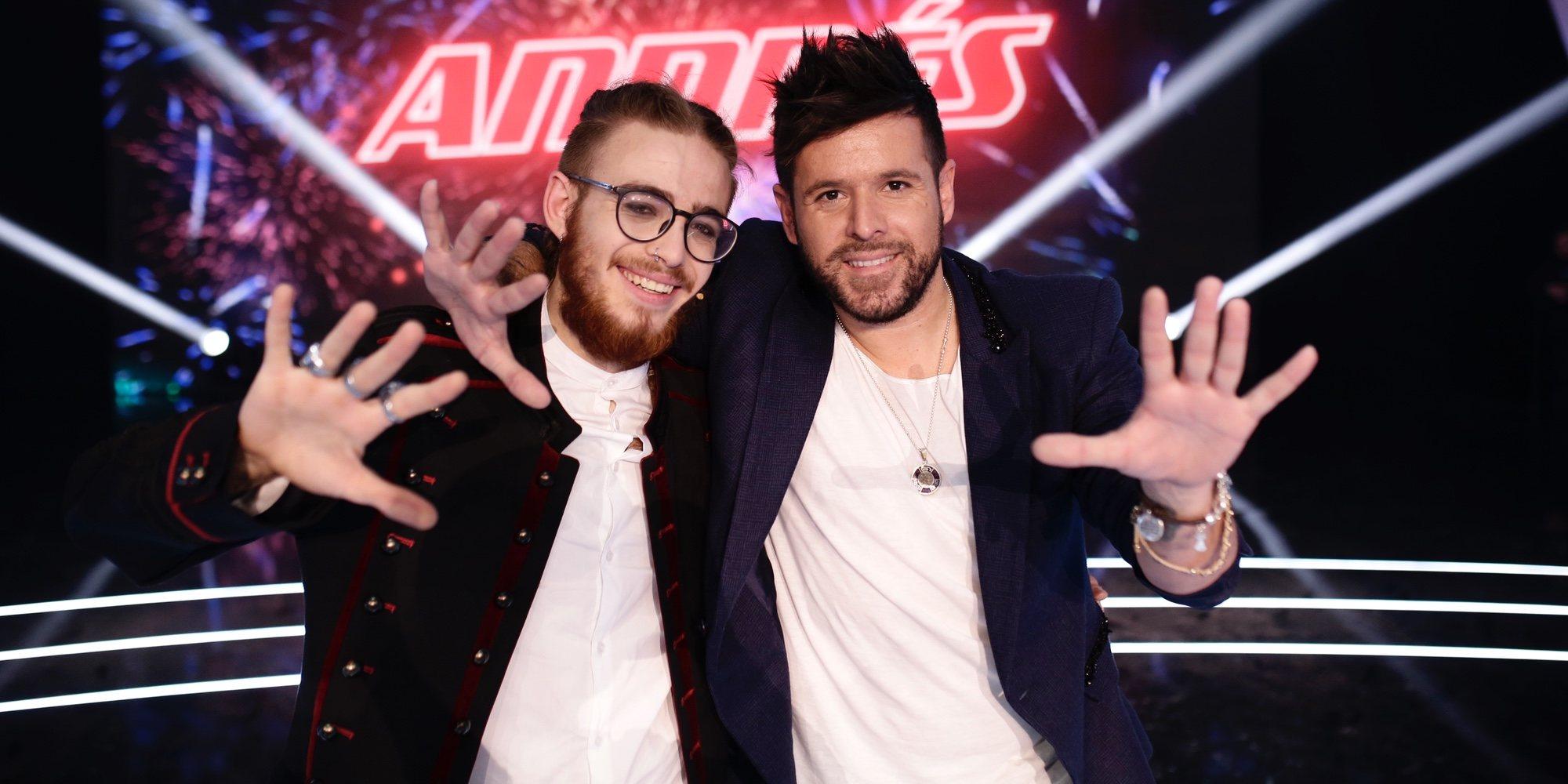 Andrés Martín se convierte en el ganador de 'La Voz' de la mano de Pablo López