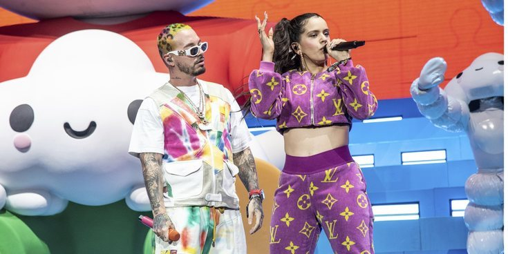 Rosalía se une por sorpresa a la actuación de J Balvin en el Festival de Coachella 2019