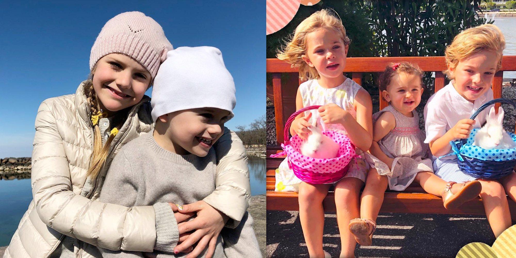 Magdalena de Suecia y Victoria de Suecia se hacen la competencia con sus hijos