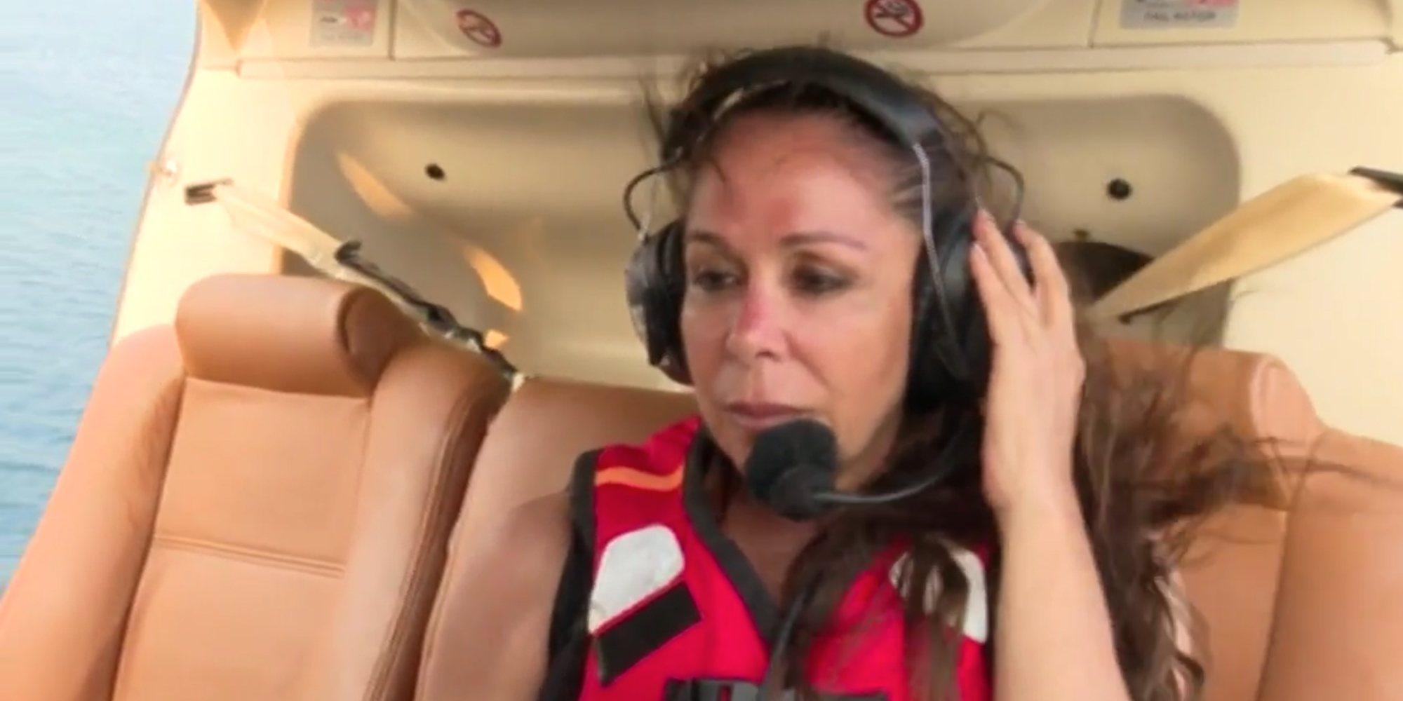 Así fue el esperado salto desde el helicóptero de Isabel Pantoja en 'Supervivientes 2019'