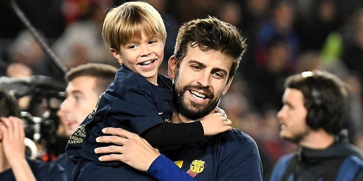 Gerard Piqué, Leo Messi o Luis Suárez celebran con sus mujeres y sus hijos la última victoria del Barça