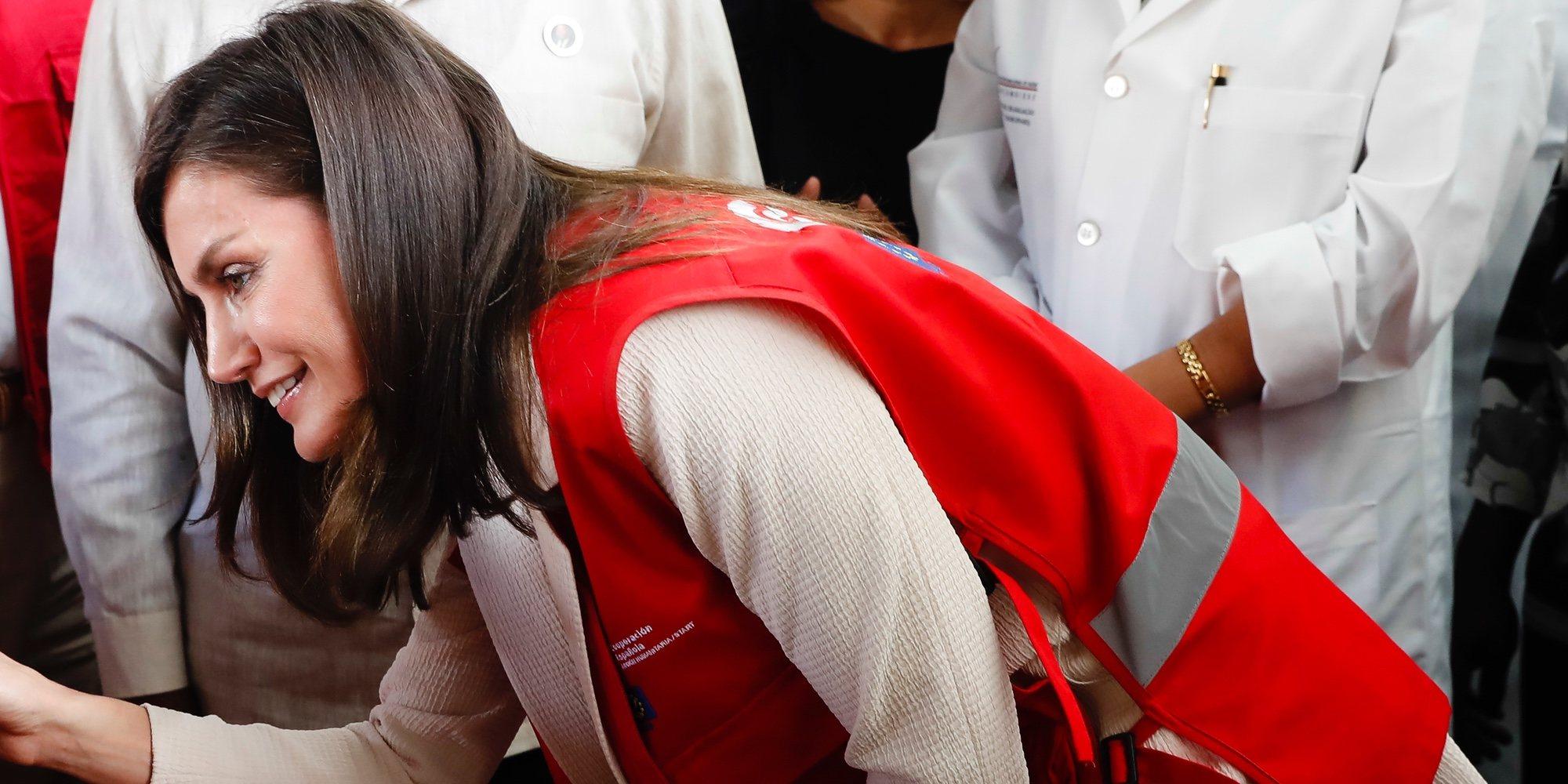 La Reina Letizia, muy comprometida con la investigación de la malaria en su viaje de cooperación a Mozambique