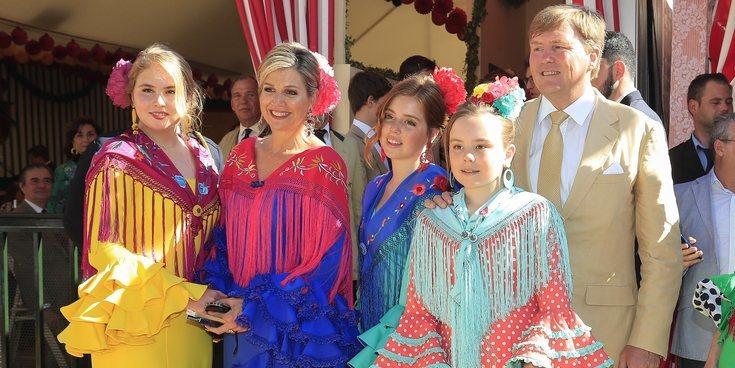 Máxima de Holanda vuelve a la Feria de Abril de Sevilla, lugar en el que conoció a  Guillermo de Holanda