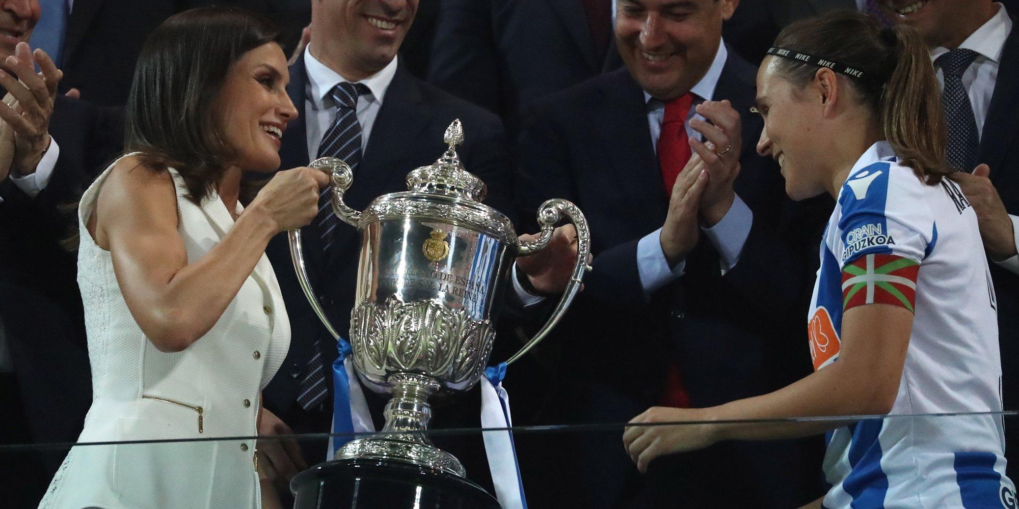 El alegato feminista de la Reina Letizia al hacer historia entregando la Copa de la Reina 2019