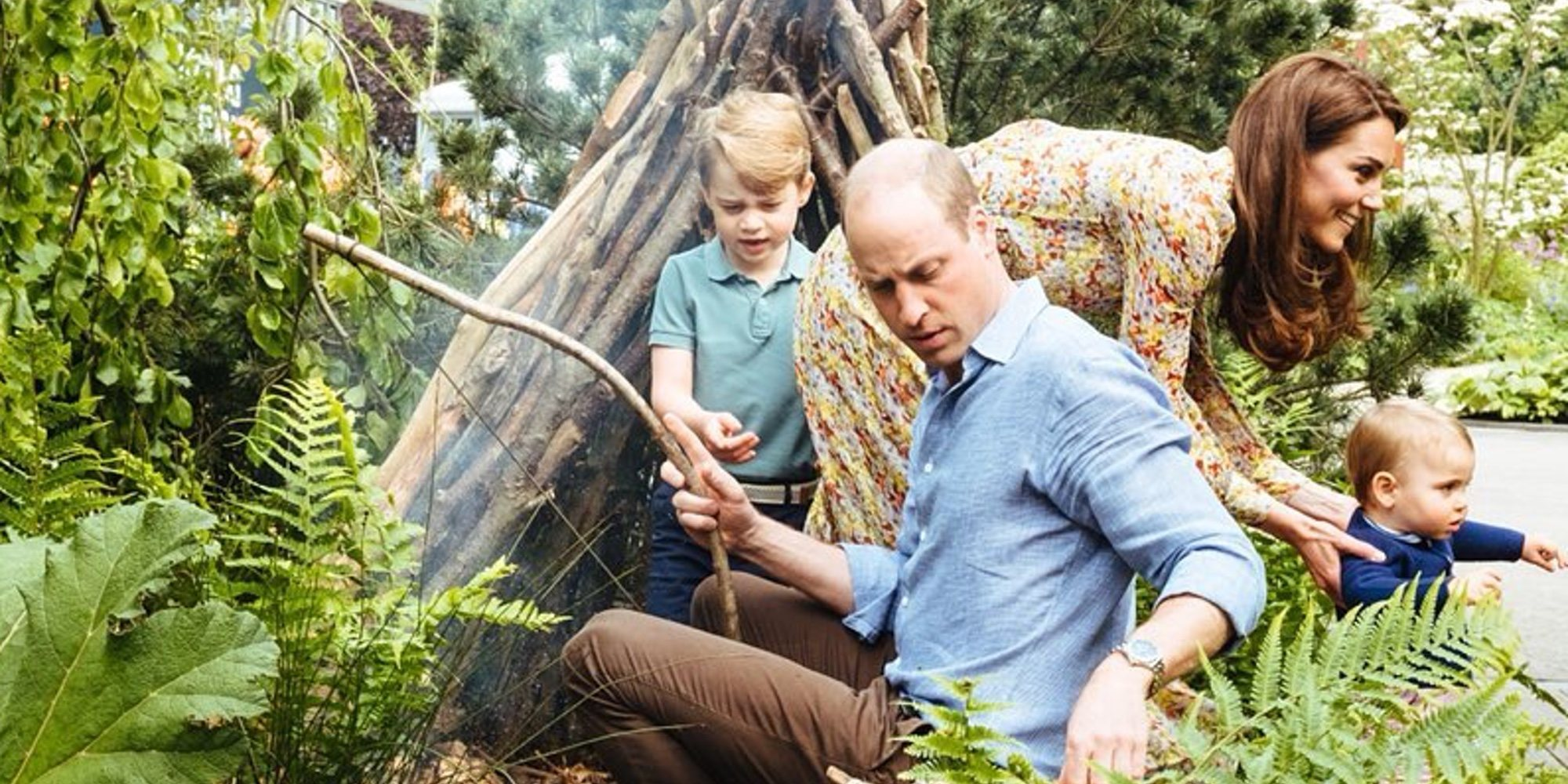 Los divertidos juegos de los Príncipes Jorge, Carlota y Luis en el jardín diseñado por su madre Kate Middleton