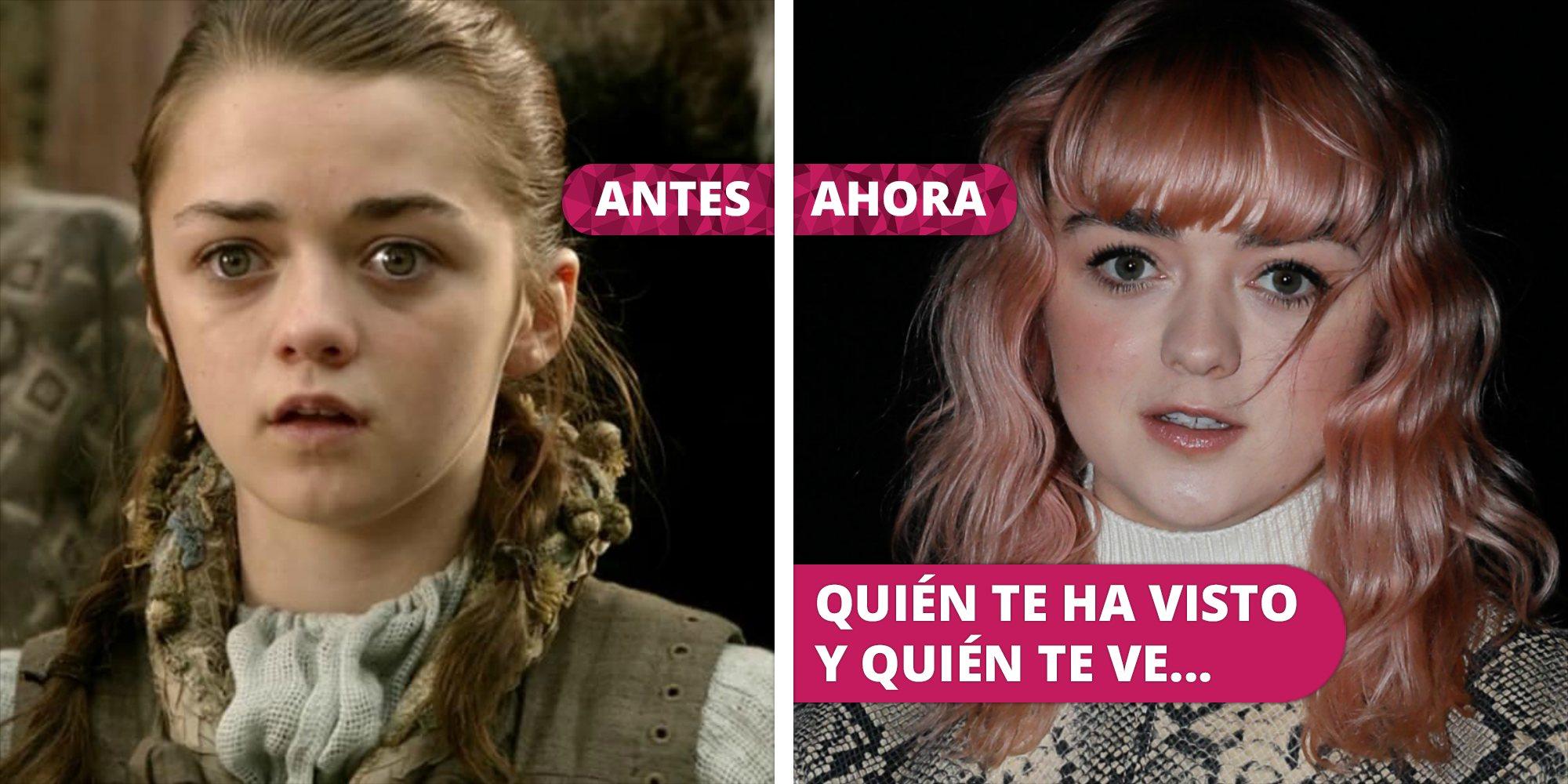 Así ha cambiado Maisie Williams: La transformación de la actriz de 'Juego de Tronos' desde que debutó como Arya Stark