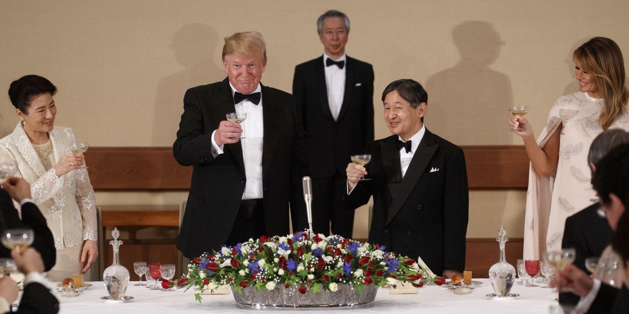 El buen rollo entre Naruhito y Masako de Japón y Donald y Melania Trump