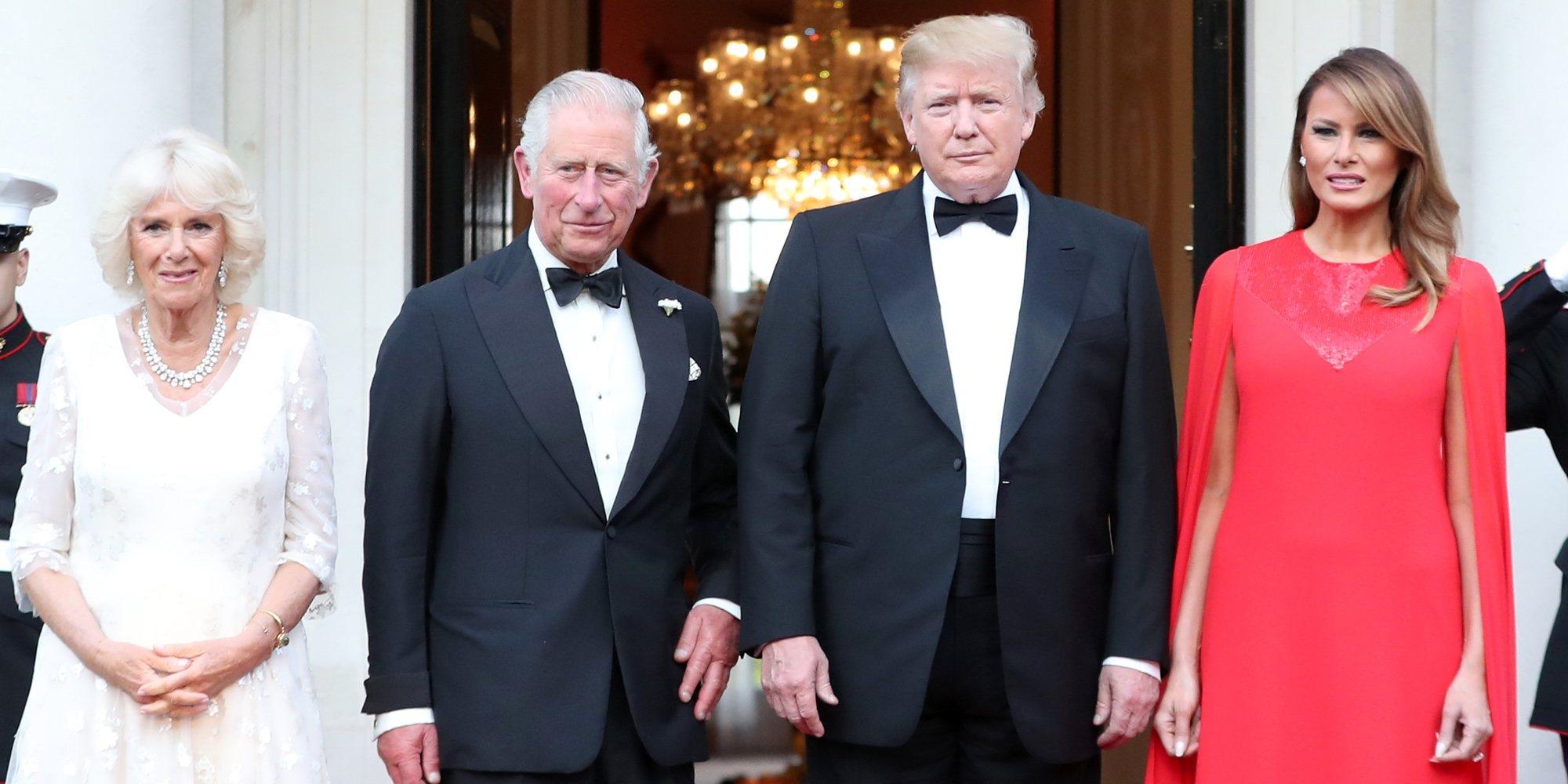 La cena al estilo americano que Donald y Melania Trump ofrecieron al Príncipe Carlos y Camilla Parker