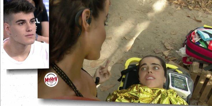 Así fue Violeta evacuada de la palapa tras sufrir un fuerte bajón de tensión durante la gala de 'SV 2019'