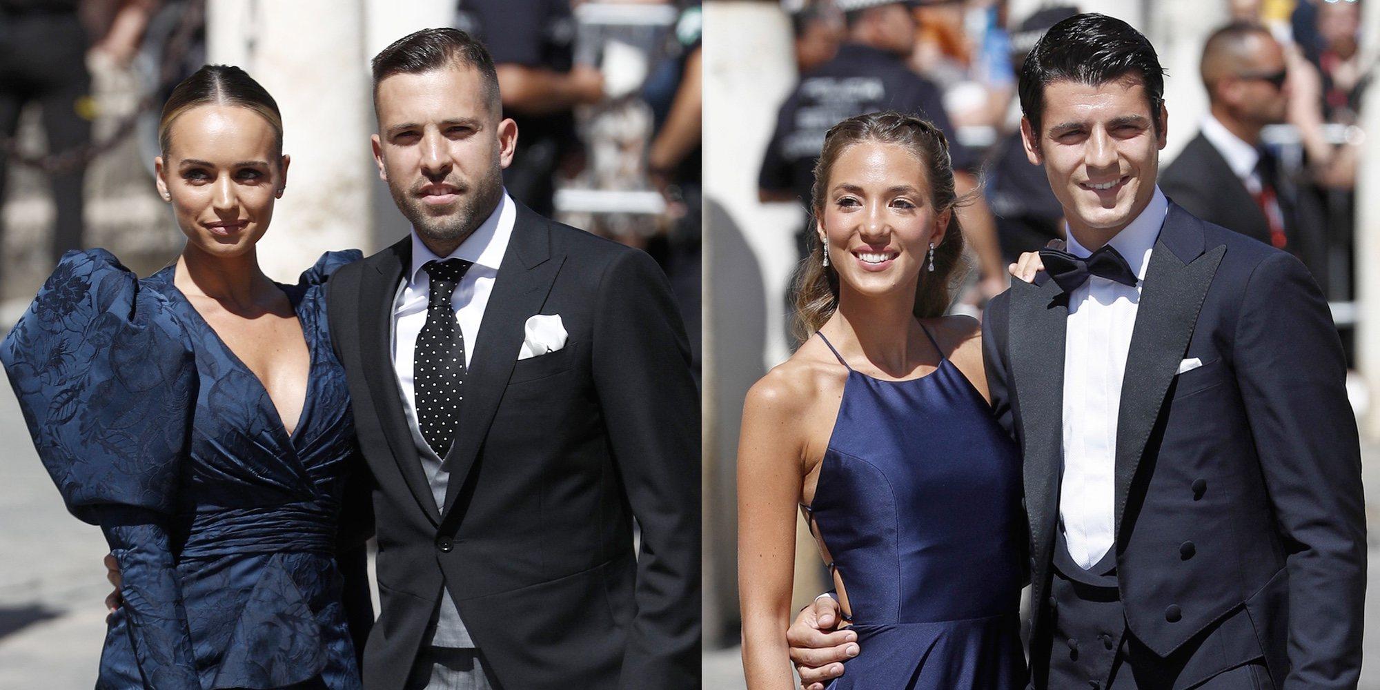 Jordi Alba y Romarey Ventura y Morata y Alice Campello, los más aclamados de la boda de Sergio Ramos y Pilar Rubio
