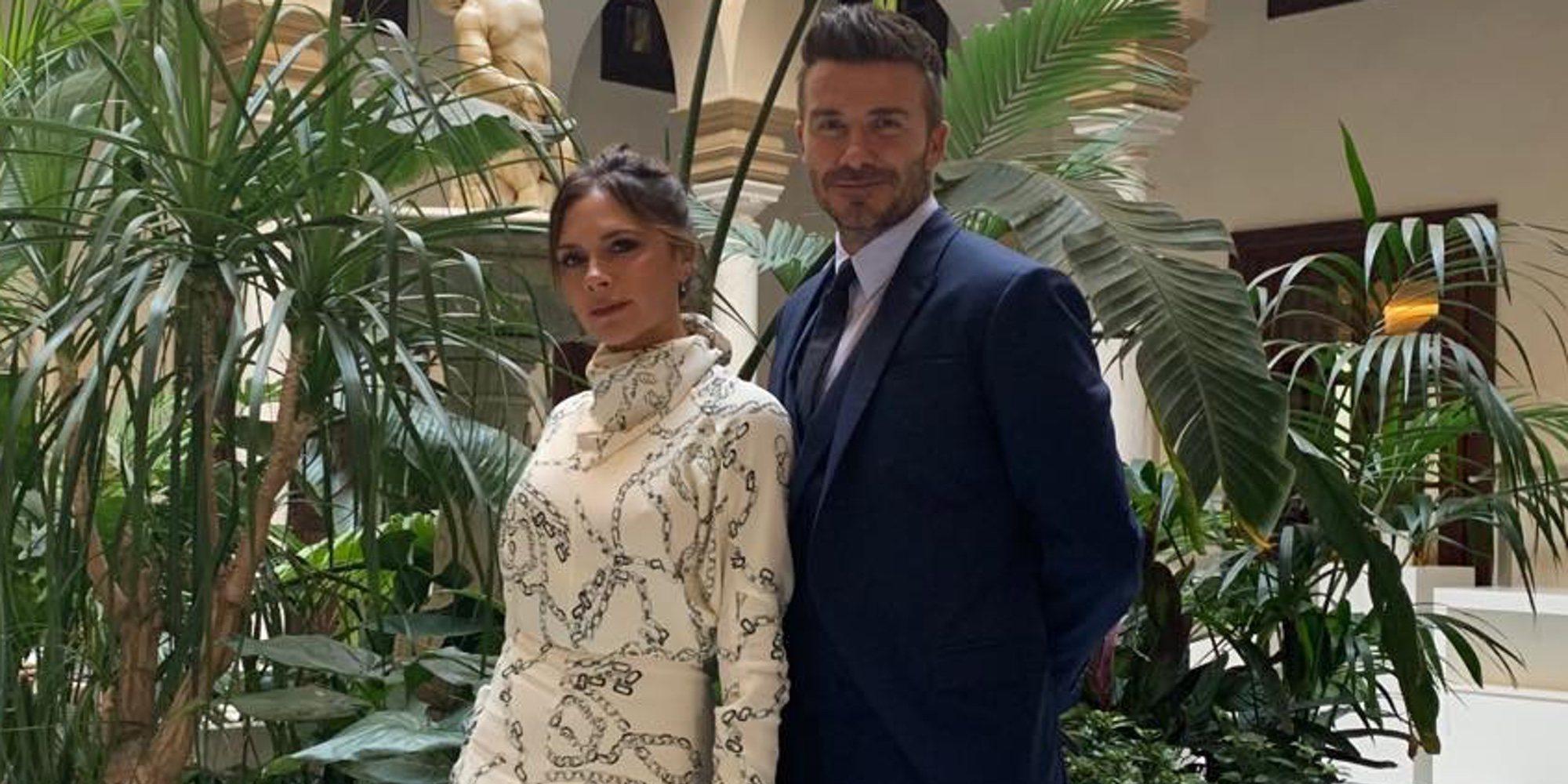 Romeo, Cruz y Harper Seven Beckham también viajaron a Sevilla para la boda de Sergio Ramos y Pilar Rubio