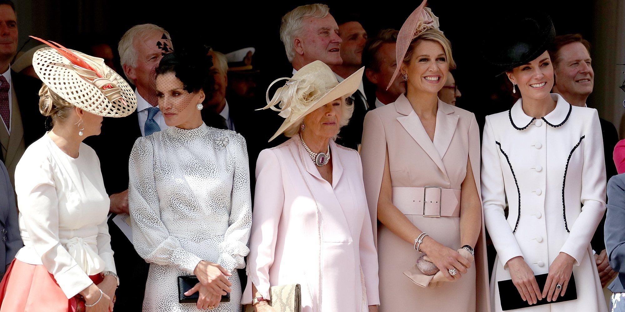 El encuentro entre la Reina Letizia, Máxima de Holanda, Camilla Parker, Kate Middleton y Sophie Rhys-Jones en Windsor