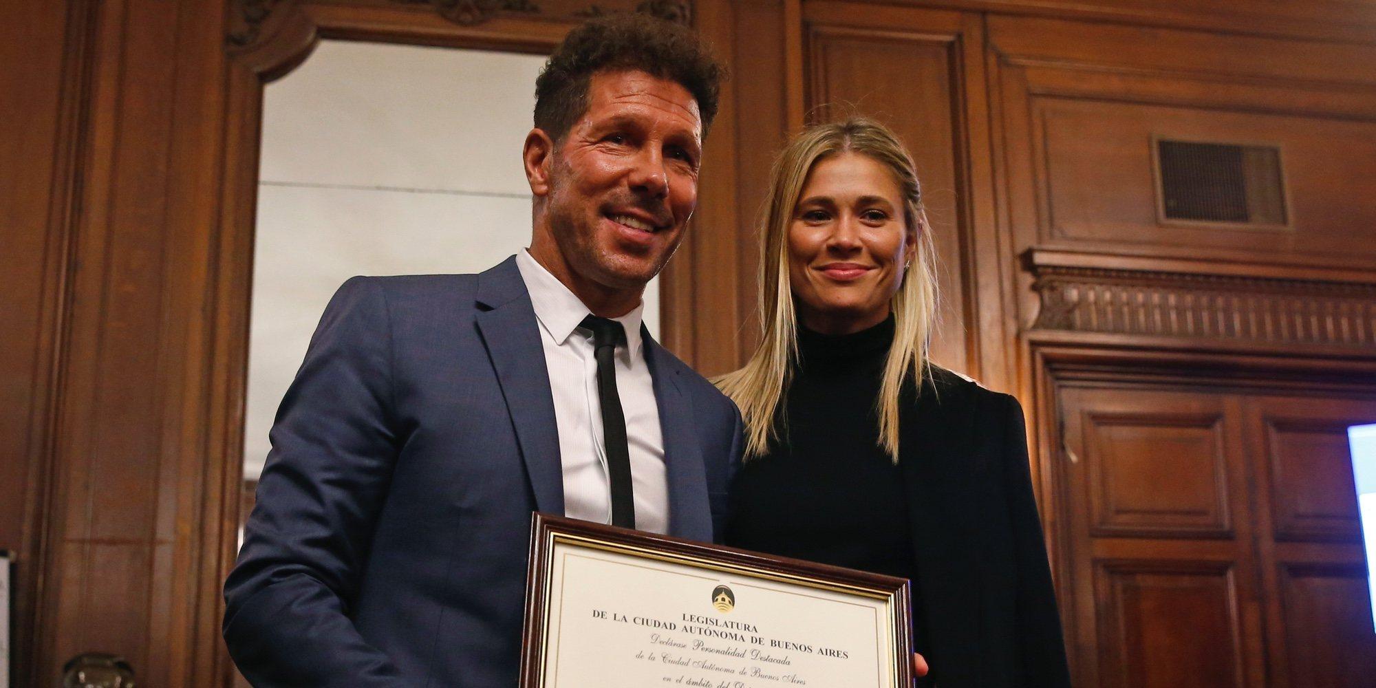 Diego Simeone es reconocido como Personalidad destacada de la Ciudad de Buenos Aires