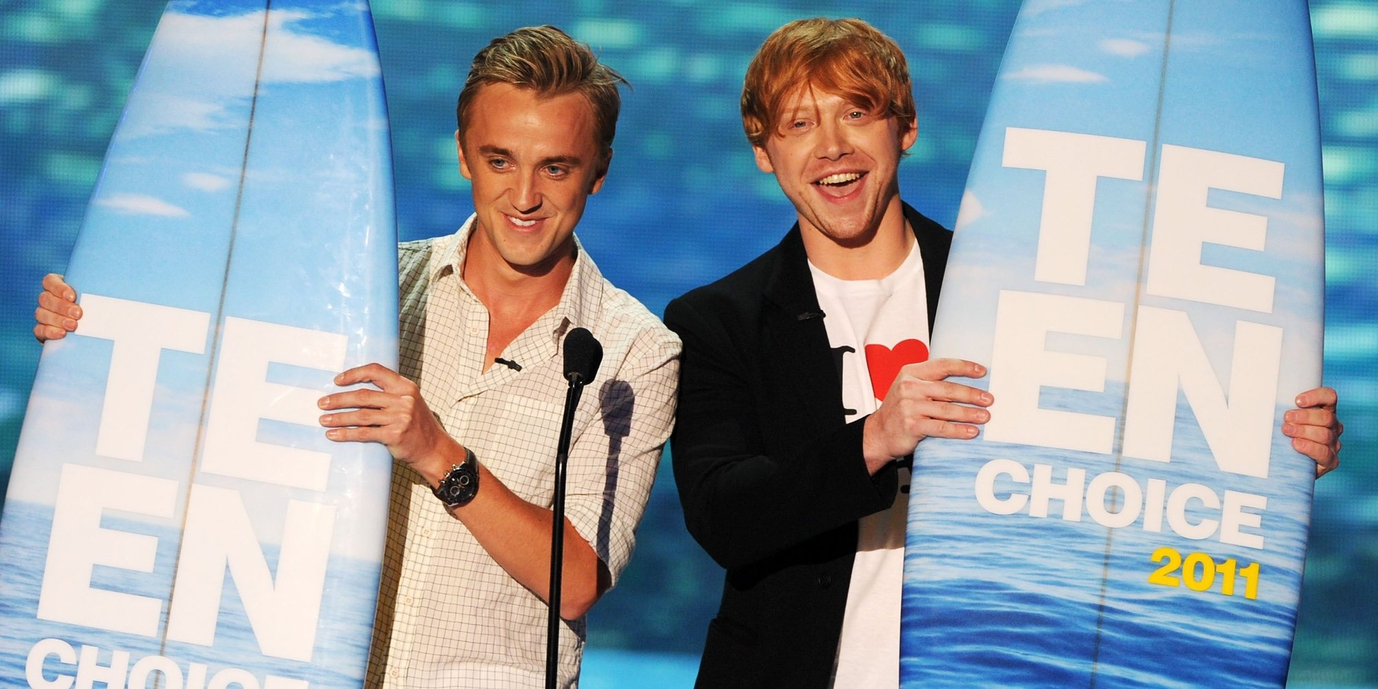 Tom Felton bromea con que Harry Potter estuviera enamorado de Draco Malfoy