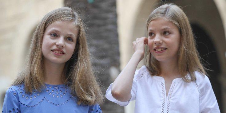 La Princesa Leonor y la Infanta Sofía evitan a sus primos Miguel e Irene Urdangarin