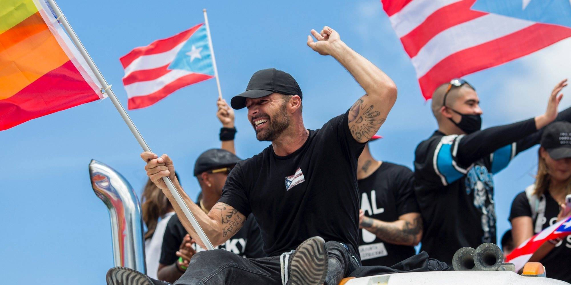 Ricky Martin, Daddy Yankee y Bad Bunny exigen la renuncia del gobernador de Puerto Rico