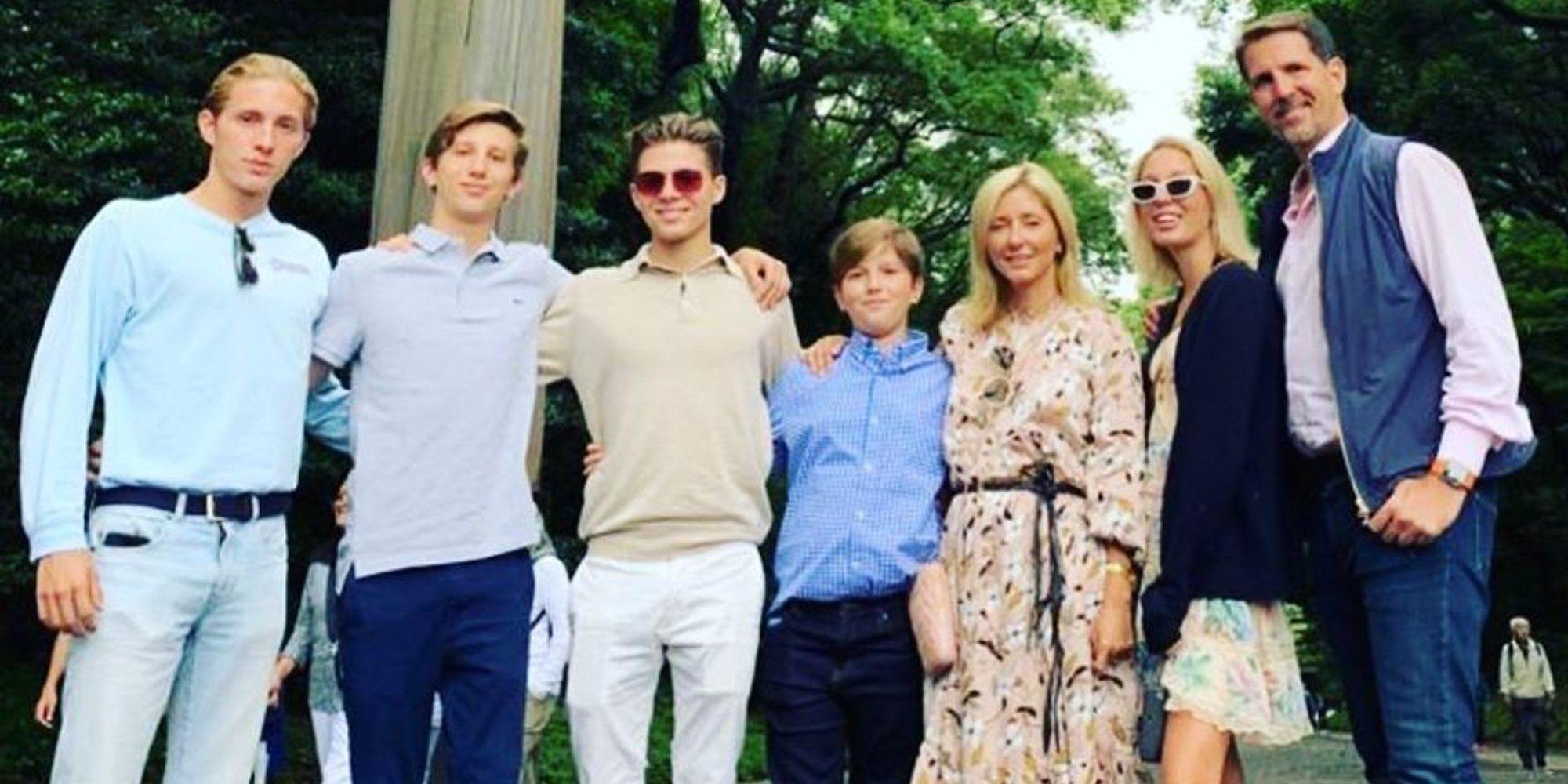 Pablo y Marie Chantal de Grecia, vacaciones de cultura y diversión con sus 5 hijos en Japón