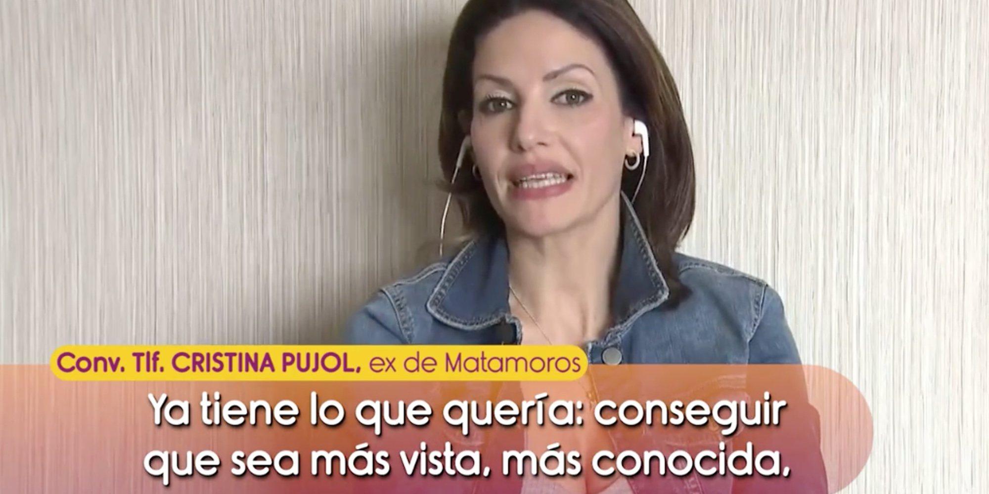 """Cristina Pujol, ex de Kiko Matamoros, sentencia a su novia: """"Veo que para lo joven que es, es muy avispada"""""""