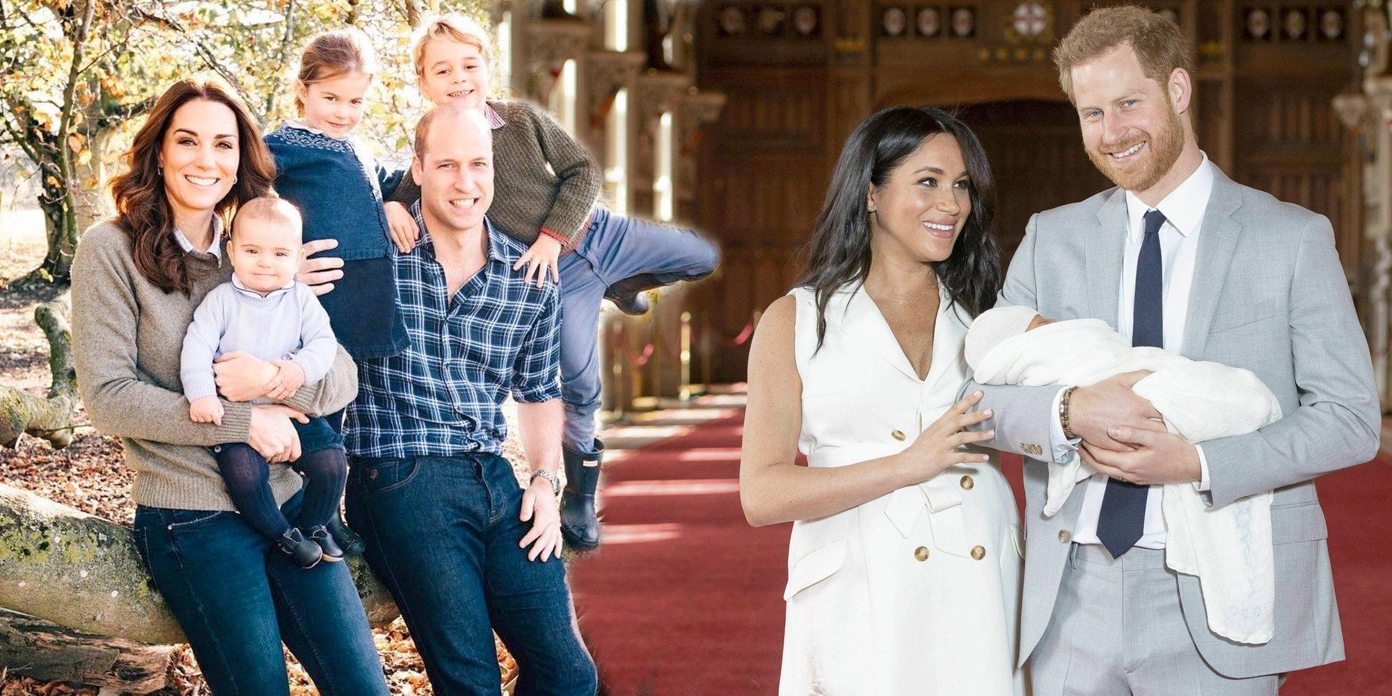Primer encuentro público de los Príncipes Jorge, Carlota y Luis con su primo Archie Harrison