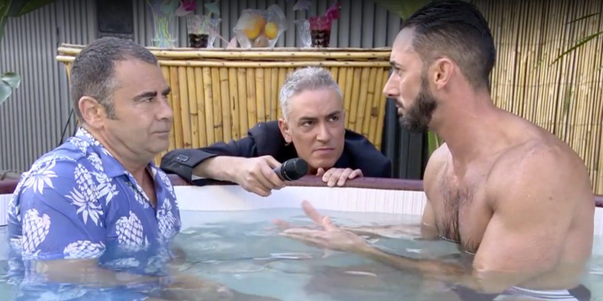 La cita de Jorge Javier Vázquez con Mr. Gay Pride Sevilla en 'Sálvame': en el jacuzzi y en directo