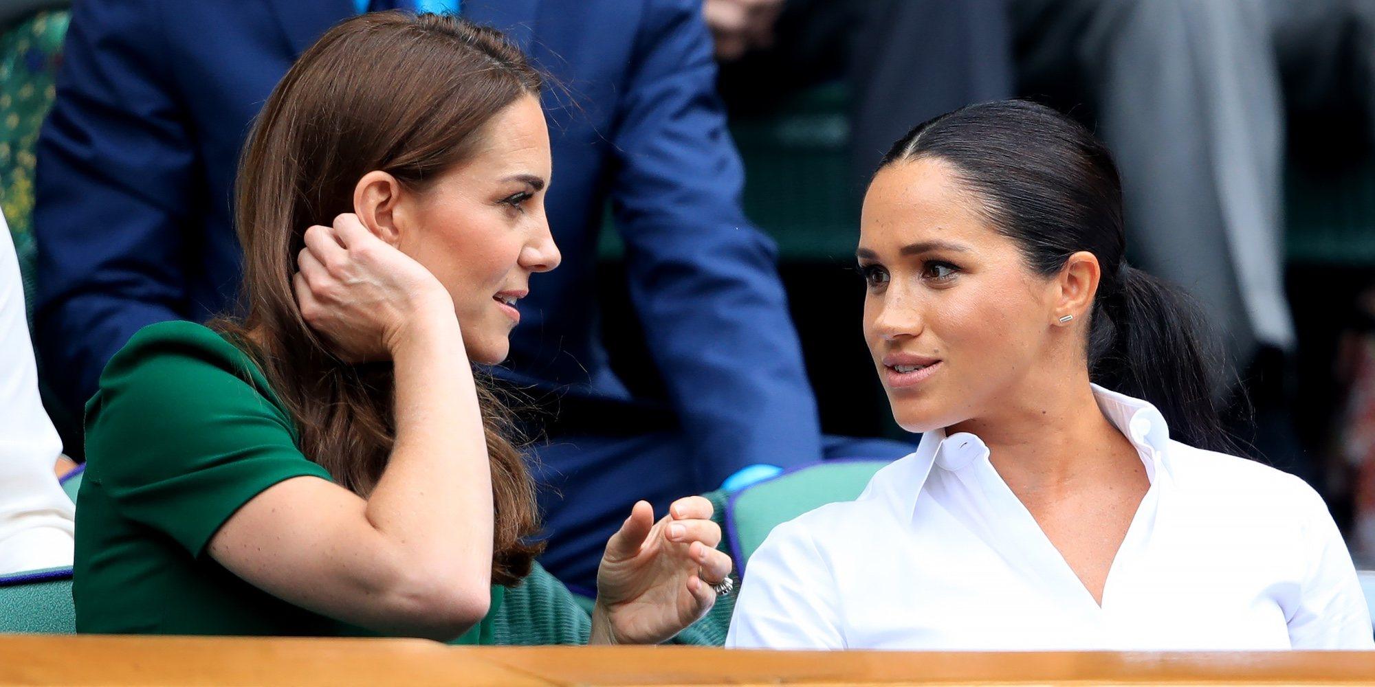 Kate Middleton y Meghan Markle muestran su buena relación en Wimbledon 2019 junto a Pippa Middleton