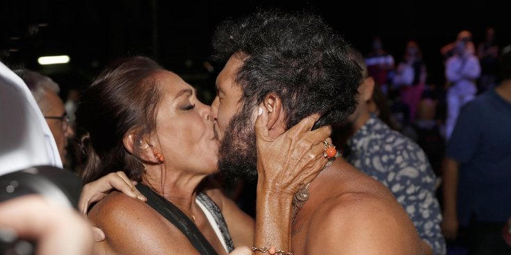 Omar Montes bromea con el beso en la boca que le dio Isabel Pantoja para celebrar su victoria en 'SV 2019'