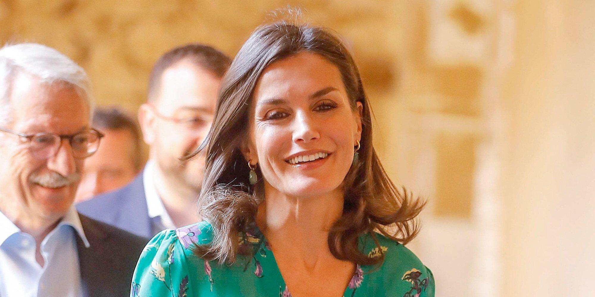 La felicidad de la Reina Letizia en su vuelta a Oviedo antes de comenzar las vacaciones de verano