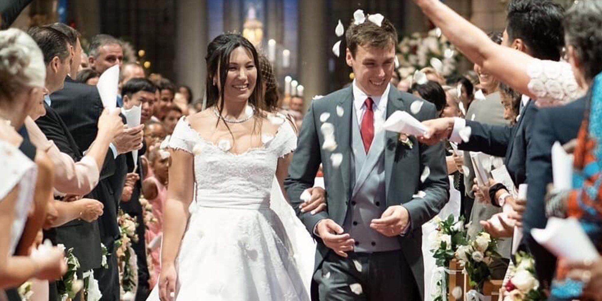Así ha sido la boda religiosa de Louis Ducruet y Marie Chevallier
