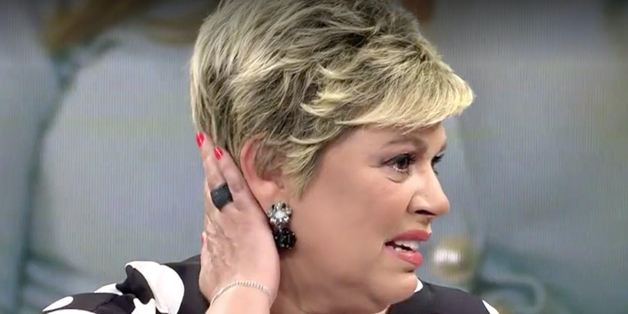 Terelu Campos abandona el plató de 'Viva la vida' entre lágrimas por las críticas hacia las fotos de su casa