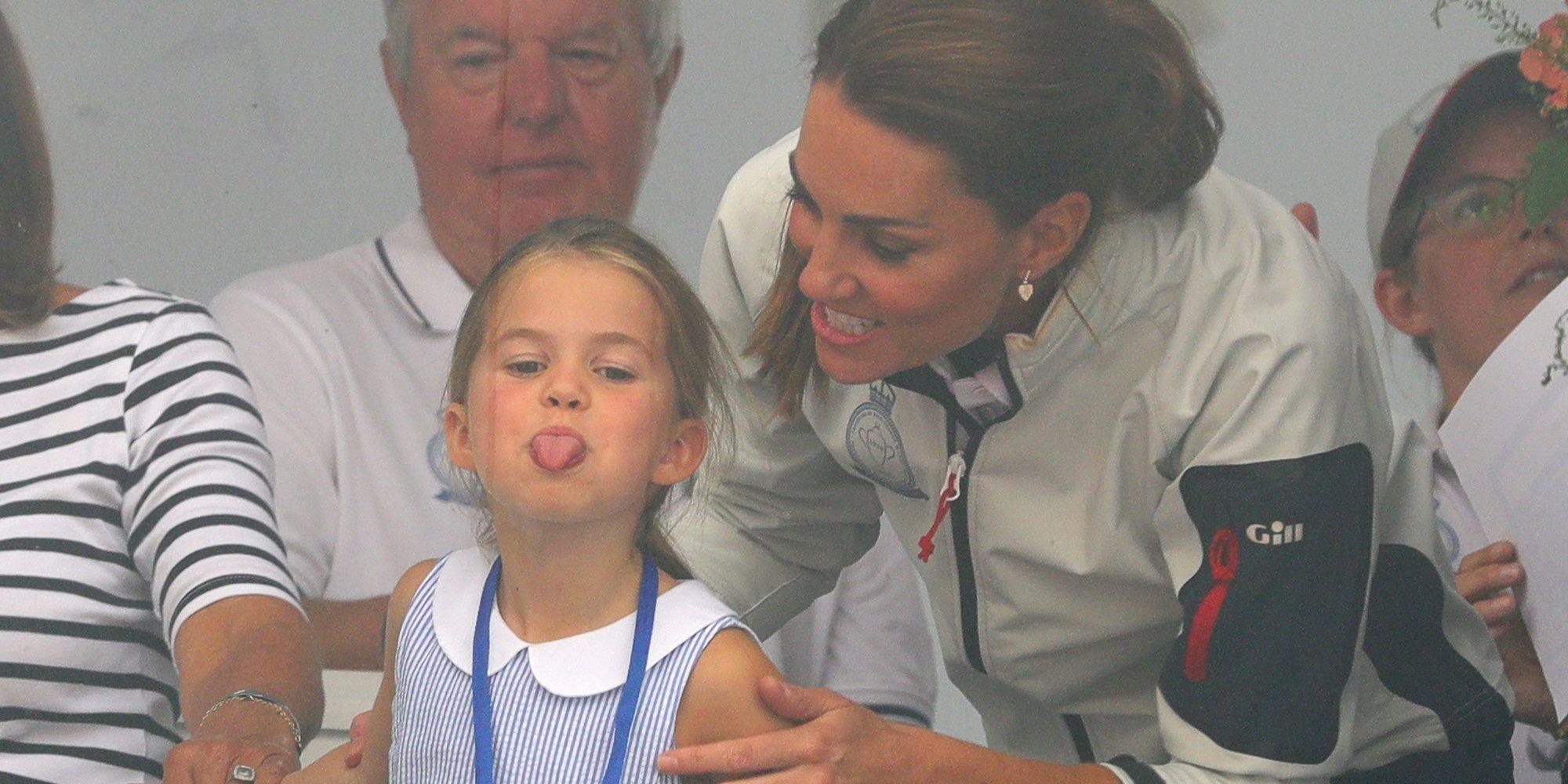 La Princesa Carlota, la gran protagonista por su espontaneidad de las regatas de la Copa del Rey de Cowes