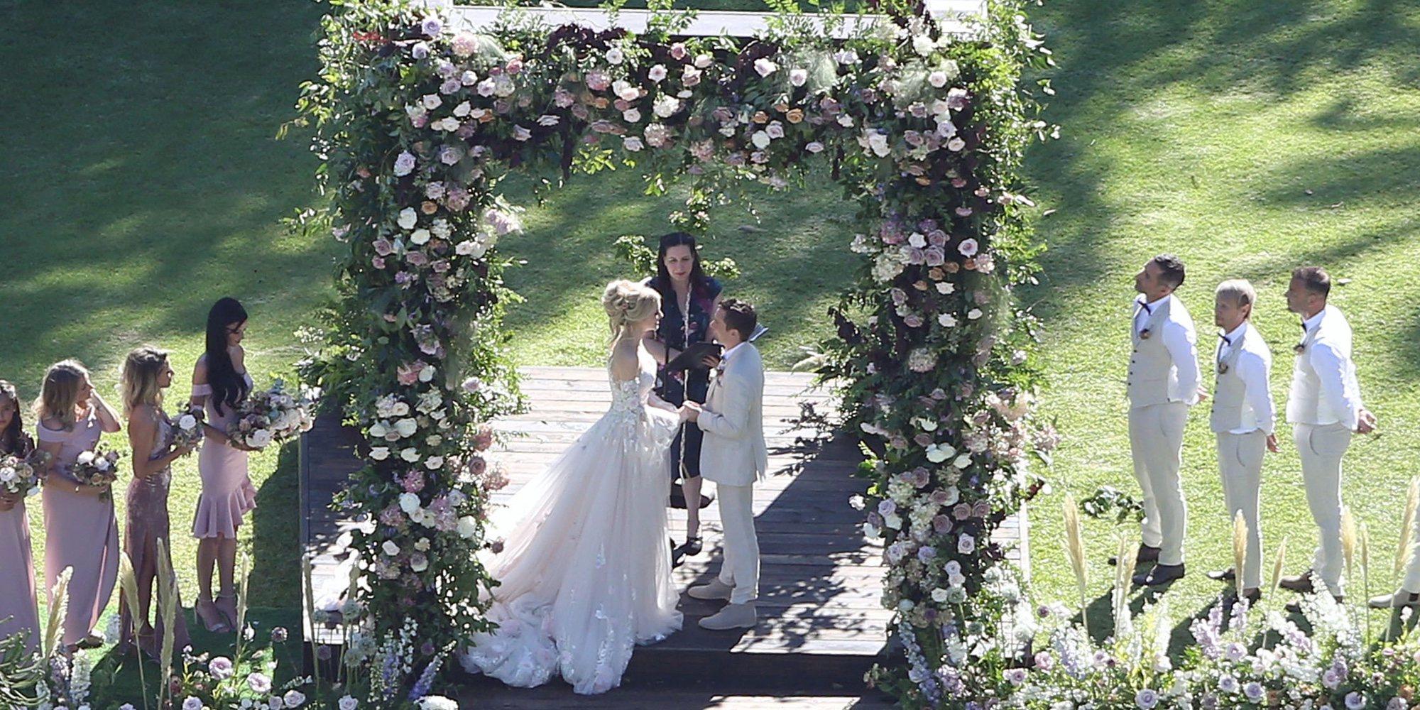 Así ha sido la romántica boda de Matt Bellamy, vocalista de Muse, con Elle Evans