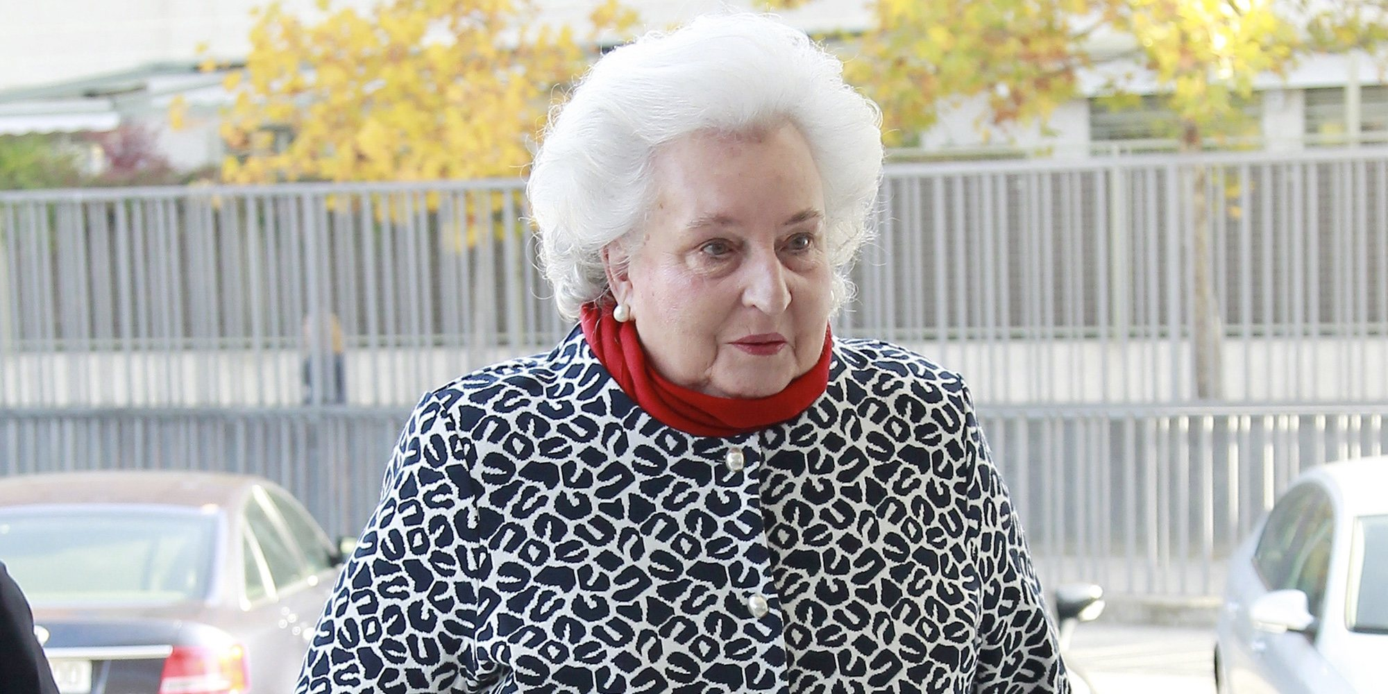 La Infanta Pilar recibe el alta tras su ingreso en Palma y regresa a casa muy animada