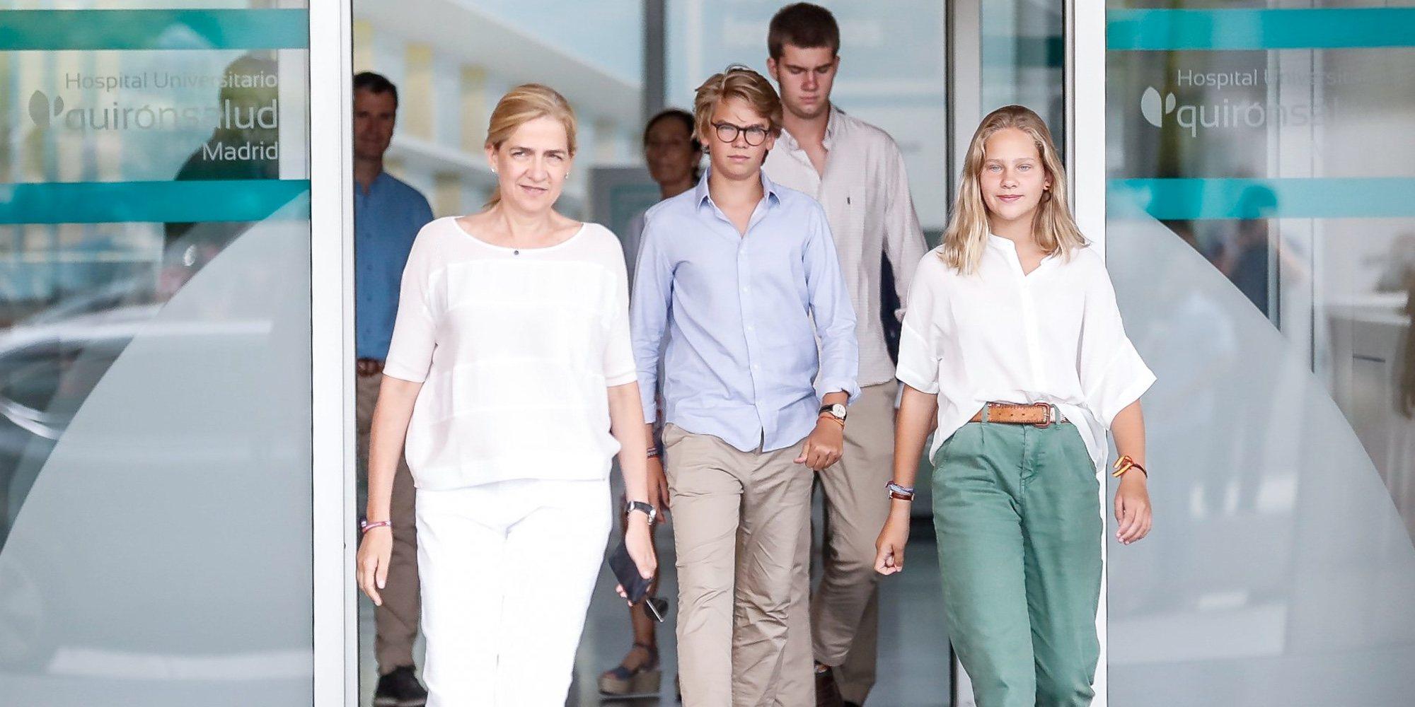Así fue la semana de vacaciones de la Infanta Cristina con sus hijos Juan, Miguel e Irene Urdangarin en Madrid
