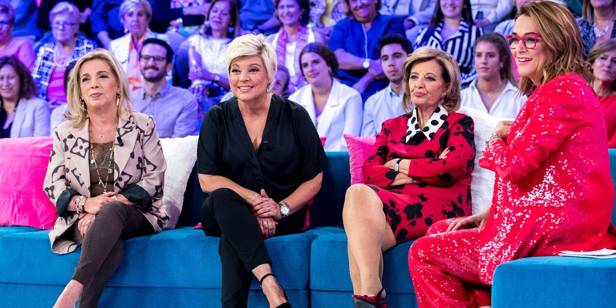 Terelu Campos vuelve a Telemadrid acompañada por María Teresa Campos y Carmen Borrego