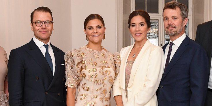 La complicidad de Federico y Mary de Dinamarca con Victoria y Daniel de Suecia en su encuentro oficial