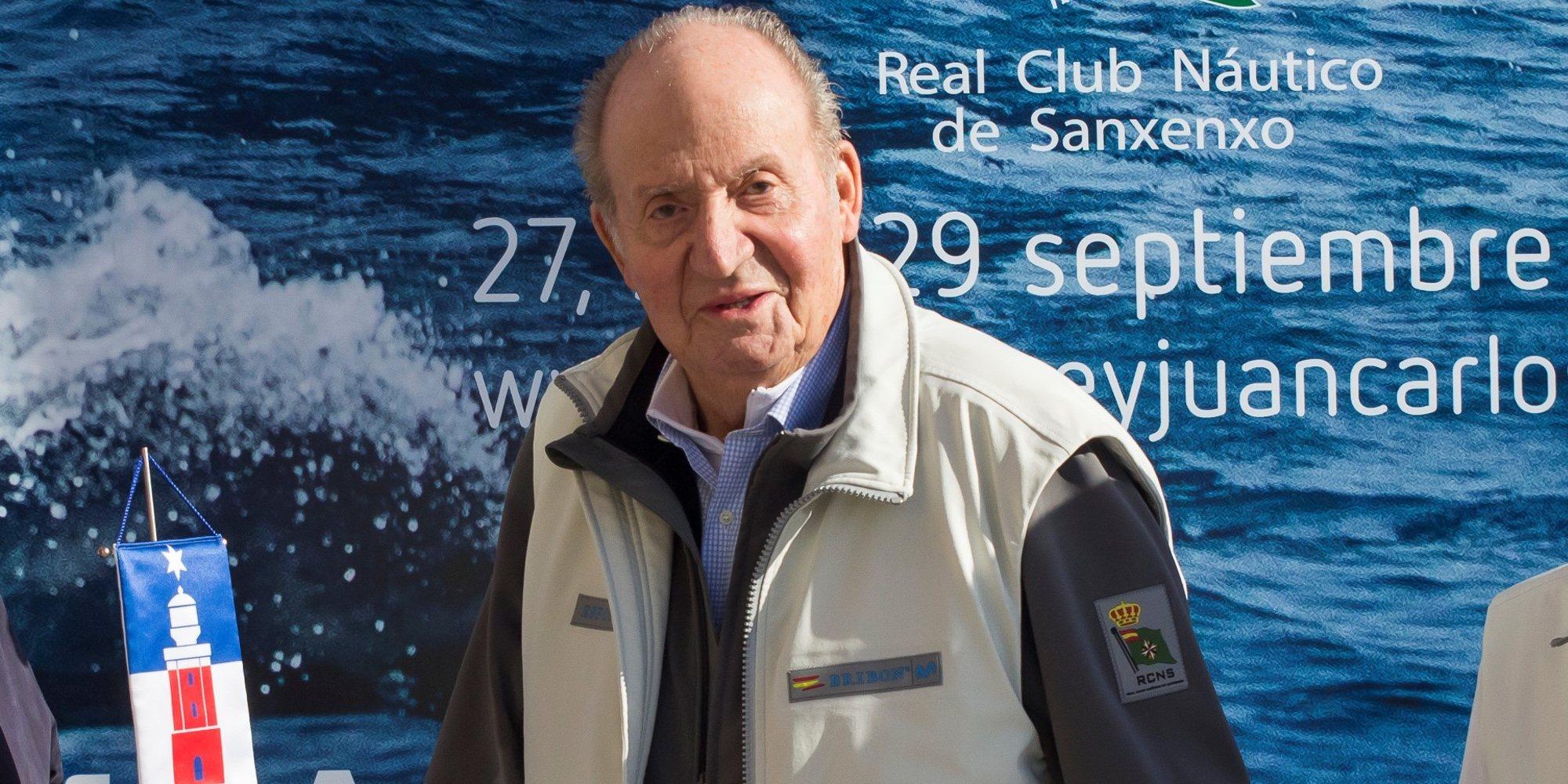 """El Rey Juan Carlos reaparece en Sanxenxo muy recuperado y afirmando que se encuentra """"bárbaro"""""""